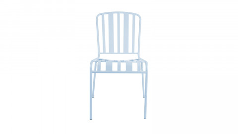 Chaise de jardin en métal bleu ciel - Collection Lines - Leitmotiv