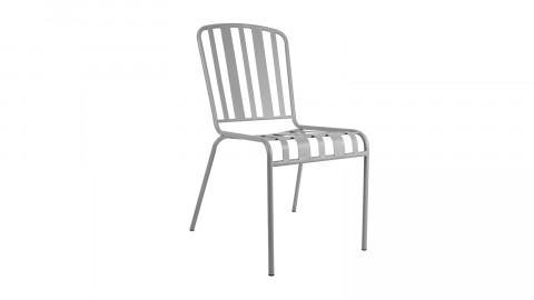 Chaise de jardin en métal gris foncé - Collection Lines - Leitmotiv