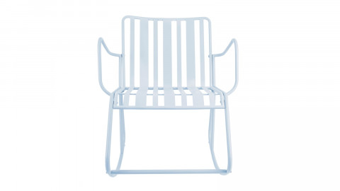 Rocking chair de jardin en métal vert - Collection Lines - Leitmotiv