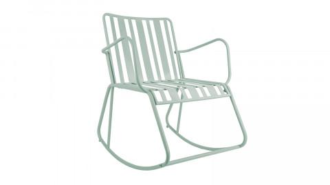 Rocking chair de jardin en métal bleu ciel - Collection Lines - Leitmotiv