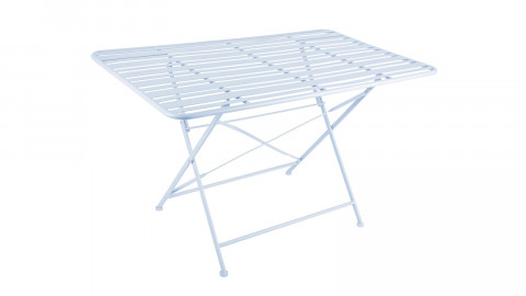 Table de jardin pliable en métal bleu ciel - Collection Lines - Leitmotiv