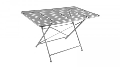 Table de jardin pliable en métal gris - Collection Lines - Leitmotiv