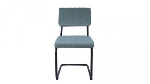 Lot de 2 chaises en velours bleu ciel - Collection Keen - Leitmotiv