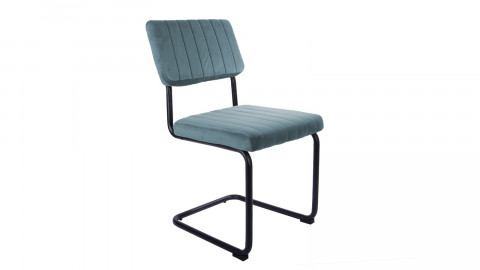 Lot de 2 chaises en velours bleu ciel - Collection Keen - Leitmotiv