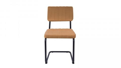 Lot de 2 chaises en velours orange - Collection Keen - Leitmotiv