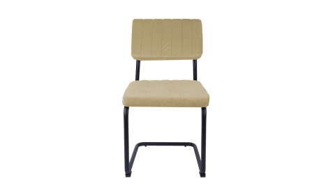 Lot de 2 chaises en velours beige - Collection Keen - Leitmotiv