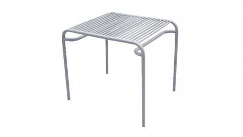 Table d'apppoint de jardin en métal gris - Collection Lineate - Leitmotiv