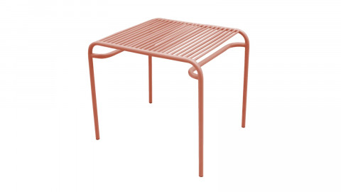 Table d'apppoint de jardin en métal marron - Collection Lineate - Leitmotiv