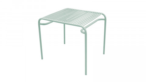 Table d'apppoint de jardin en métal vert - Collection Lineate - Leitmotiv