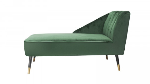 Méridienne en velours vert - Collection Royal - Leitmotiv