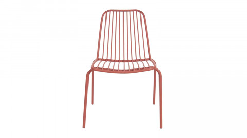 Chaise de jardin en métal marron - Collection Lineate - Leitmotiv