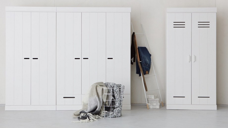 Connect Armoire 2 Portes + Poignees Blanc