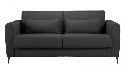 Canapé 3 places convertible en tissu gris anthracite Boston - Ouverture express - Couchage quotidien 2 personnes - Matelas Haute