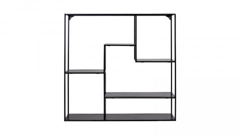 Etagère large 4 niches en métal noir - Collection Vita