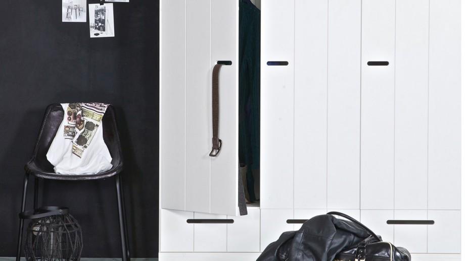 Connect Armoire 3 Portes + Tiroirs Blanc