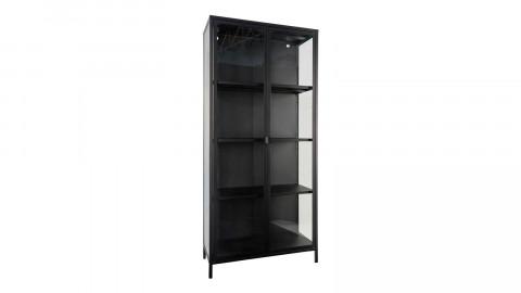Vitrine 2 portes en métal noir - Collection Brisbane