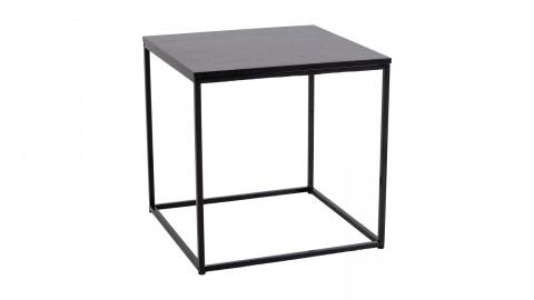 Table d'appoint carrée en bois et métal noir - Collection Vita