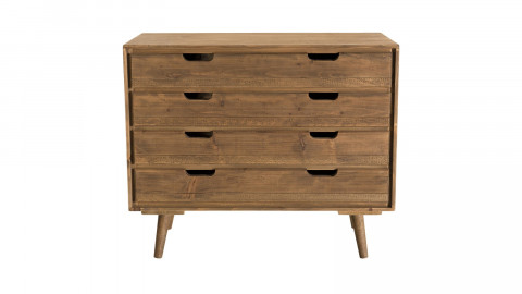 Commode scandinave 4 tiroirs en pin - Collection Andy