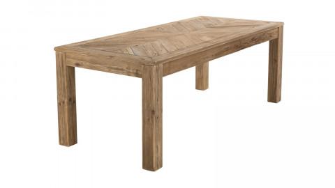 Table à manger 200x90cm 6 personnes en pin recyclé - Collection Sandy