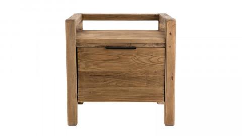Chevet 1 tiroir en pin recyclé - Collection Sandy