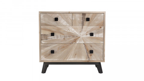 Commode scandinave 4 tiroirs en pin - Collection Andy - Collection Mandy