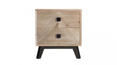 Chevet scandinave 2 tiroirs - Collection Mandy