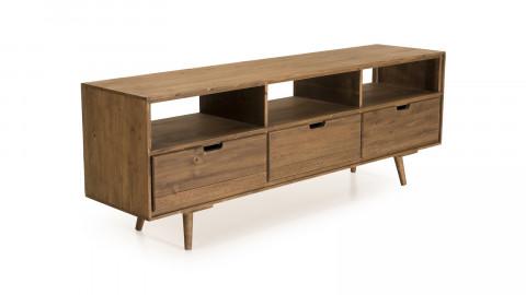 Meuble TV scandinave 3 tiroirs 3 niches en pin - Collection Andy