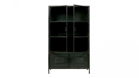 Vitrine en métal 2 portes et 2 tiroirs – Collection Ronja – Woood
