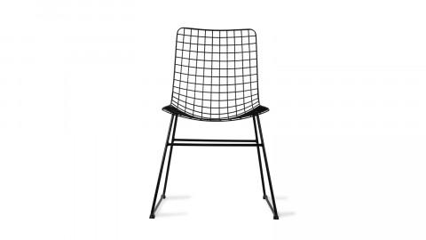 Lot de 2 chaises en métal noir - HK Living