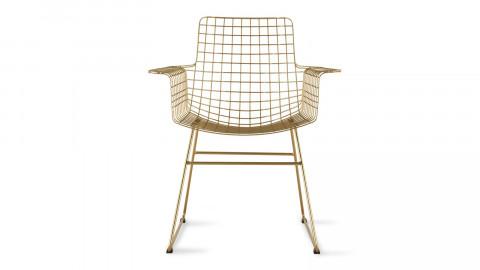 Lot de 2 fauteuils en métal brossé doré - HK Living