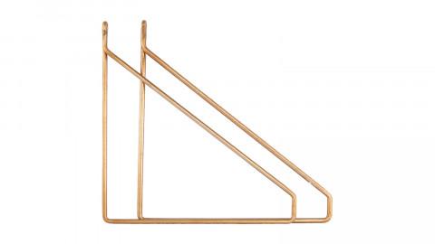 Lot de 2 équerres pour étagère en métal doré - Collection Apart - House Doctor