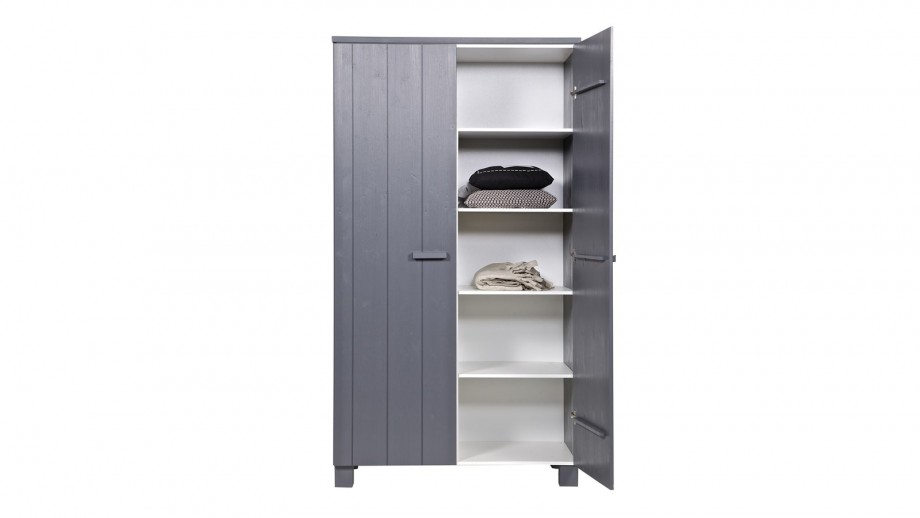 Dennis Armoire Pin Brosse Anthracite