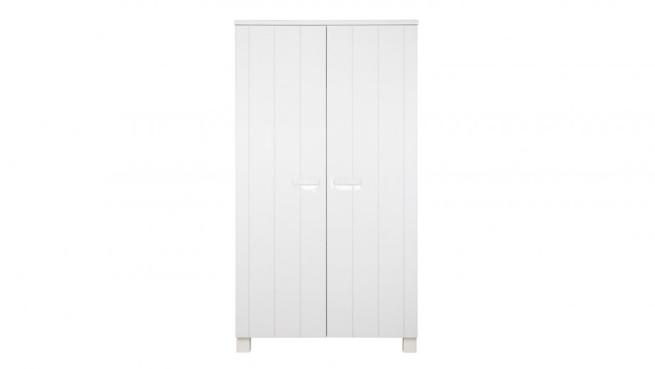 armoire 2 portes en pin bross blanc collection robin woood homifab. Black Bedroom Furniture Sets. Home Design Ideas