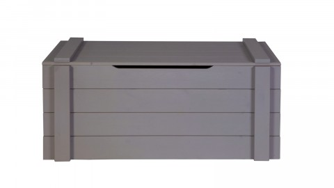 Coffre de rangement en pin massif gris anthracite - Collection Dennis - Woood