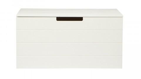 Coffre à jouets en pin massif brossé blanc - Collection Keet