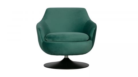 Fauteuil vintage en velours vert - Collection Jada - Woood