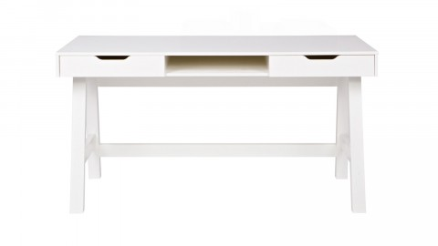 Bureau en pin blanc, piètement en trétaux - Collection Nikki - Woood
