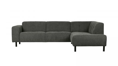 Canapé d'angle droit 5 places tissu gris - Collection Presley - Woood