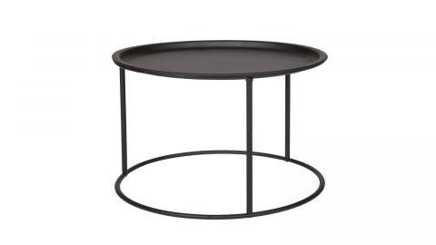 Table basse ronde en métal noir - Collection Ivar - Woood