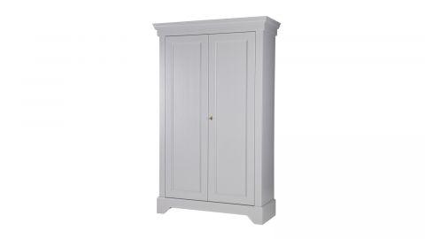 Armoire 2 portes en pin gris béton - Collection Isabel - Woood