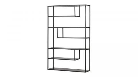Bibliothèque à cases XL en métal noir - Teun - Woood