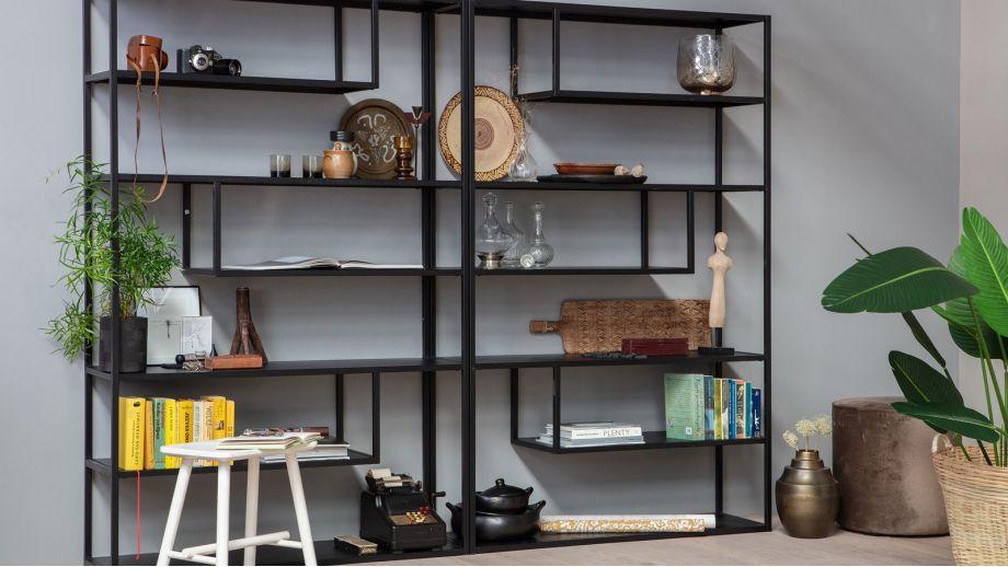 Casier XL en métal noir - Collection Teun - Woood