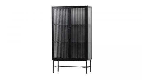 Vitrine 2 portes en métal noir - Collection Zion - Woood