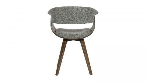 Chaise en bois et tissu gris - Collection Catch - BePureHome