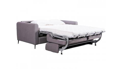 Canapé 3 places convertible en tissu gris clair Boston - Ouverture express - Couchage quotidien 2 personnes - Matelas Haute dens