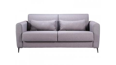 Canapé 3 places convertible en tissu gris clair Boston - Ouverture express - Couchage quotidien 2 personnes - Matelas HD