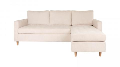 Canapé d'angle réversible en velours côtelé sable - Collection Firenze - House Nordic