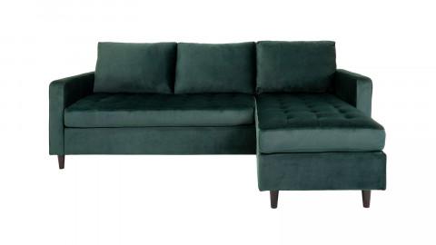 Canapé d'angle réversible en velours vert - Collection Firenze - House Nordic