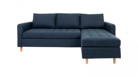 Canapé d'angle réversible en tissu bleu - Collection Firenze - House Nordic