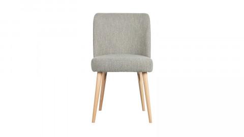 Lot de 2 chaises en tissu bouclé gris clair piètement bois - Collection Force - Vtwonen